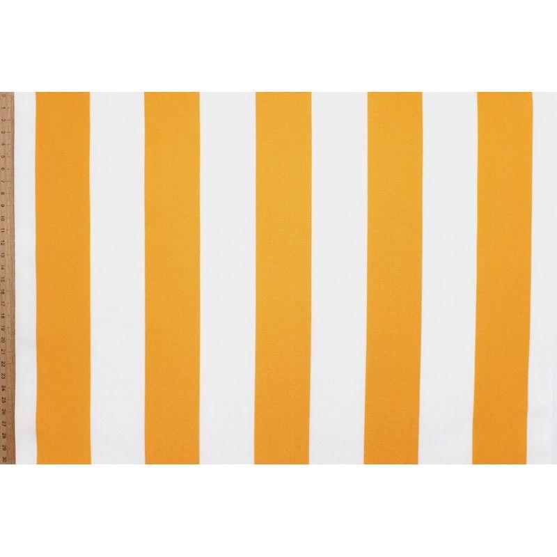 Gestreept strandstoel stof in dralon - geelbruin / wit