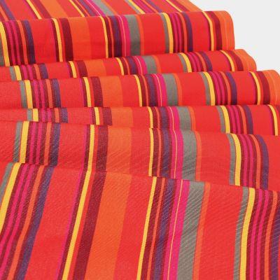 Gestreept strandstoel stof in dralon - kleurrijk