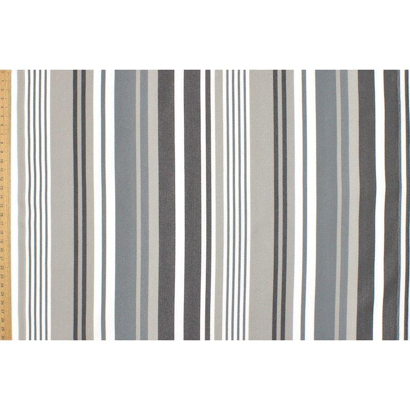 Gestreept strandstoel stof in dralon - grijs