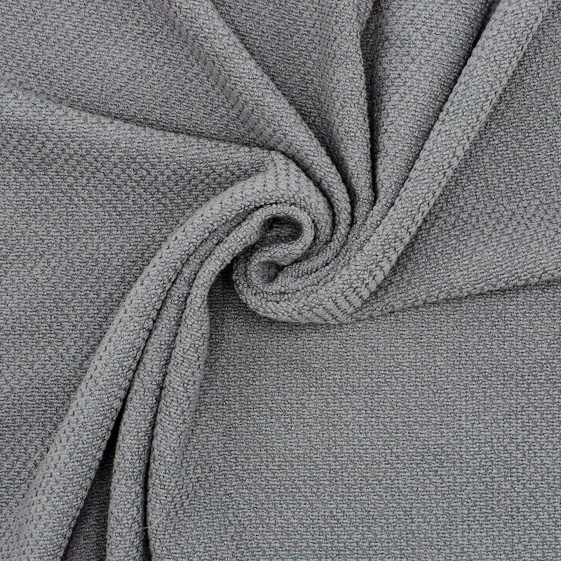 Tissu éponge jacquard Terry - gris