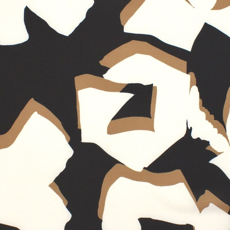 Polyester twill fabric with patterns - black