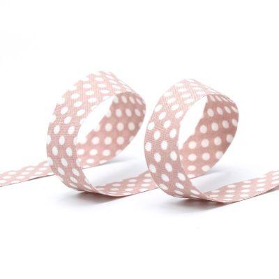 Ribbon with dots - pink