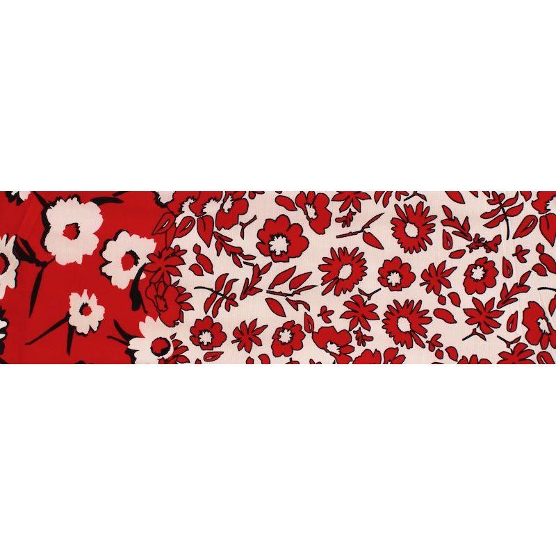 Tissu aspect gaufré extensible à fleurs