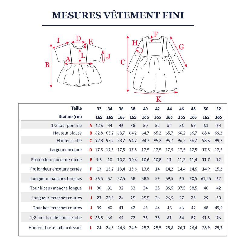 Pattern blouse or dress Sakura