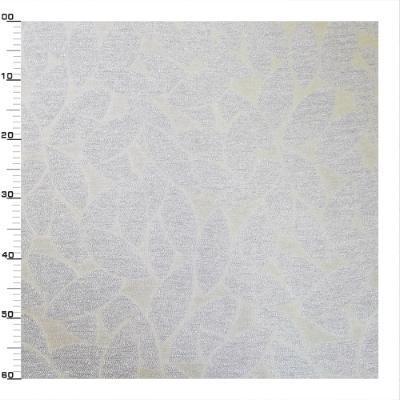 Zilver polyester en viscose stof met zilver rijst patroon