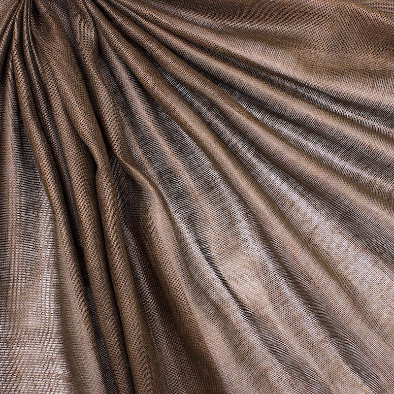 100% linen - brown