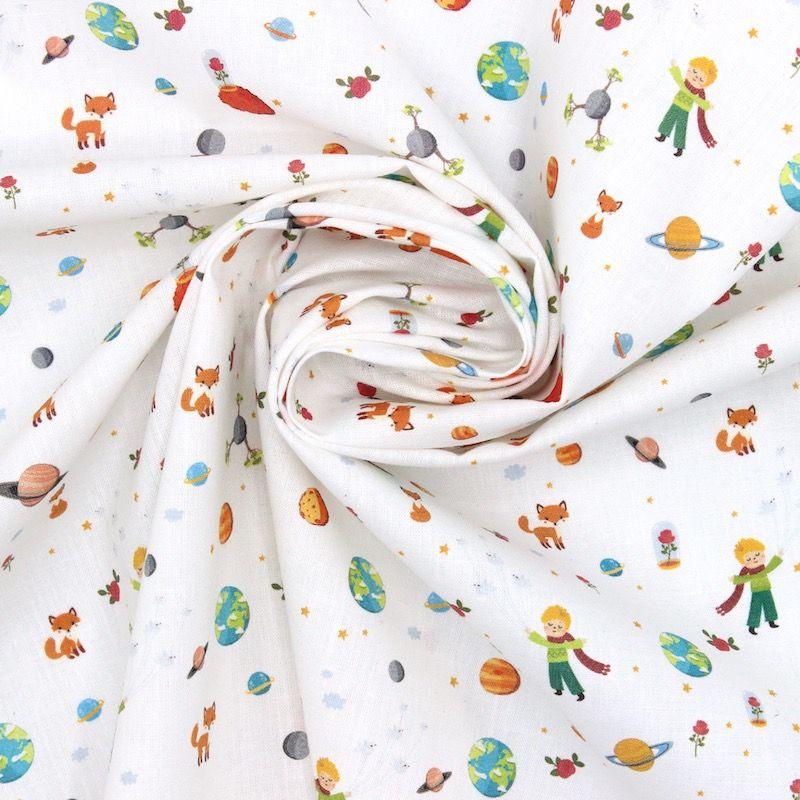 Tissu coton Le petit prince - blanc