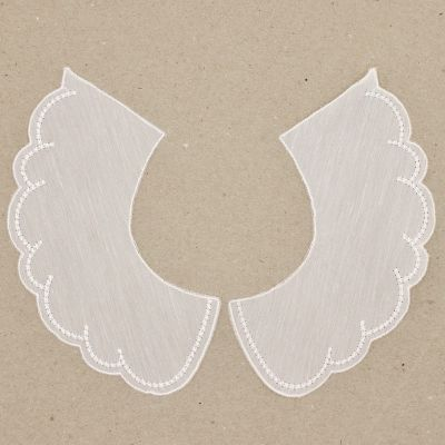 Col broderie anglaise - blanc
