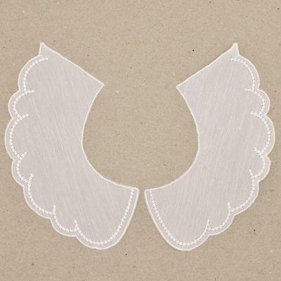 English emboirdered collar - white