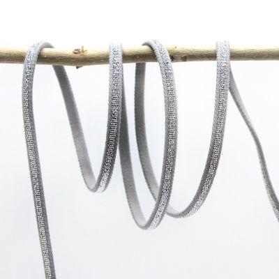 Spaghetti elastiek - grijs en zilver