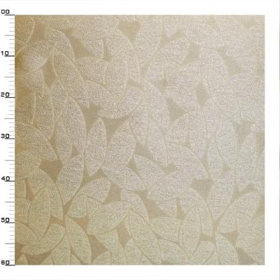 Gouden polyester en viscose stof met gouden rijst patroon
