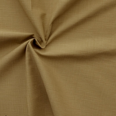 Flamed and emerised cotton - beige