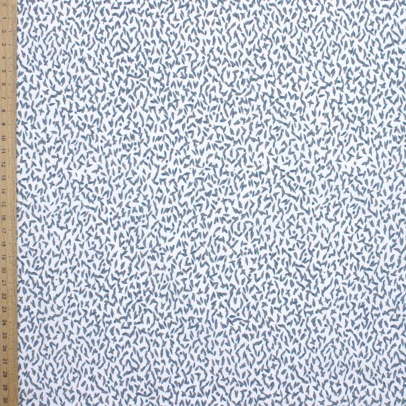 Tissu 100% coton petits motifs - blanc
