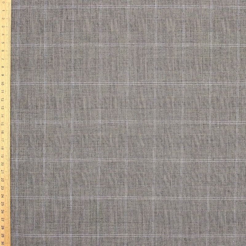 Extensible fabric - grey / brown