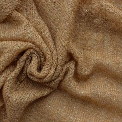 Tissu en maille légère beige