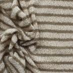 Tissu en maille légère à lignes beige