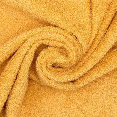 Tissu éponge bouclette  coton - moutarde