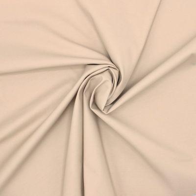 Tissu satin de coton  beige