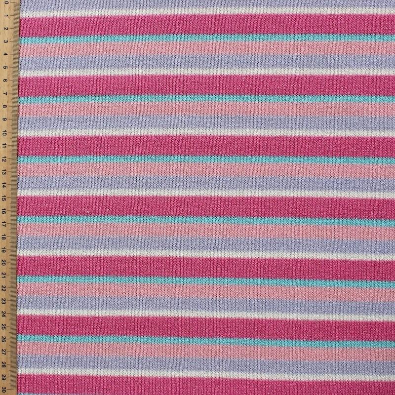 FIGURE Blauwe en roze gestreepte gebreide stof zeer lichtLIBRE
