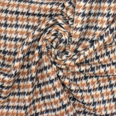 Checkered wool - coffee with milk