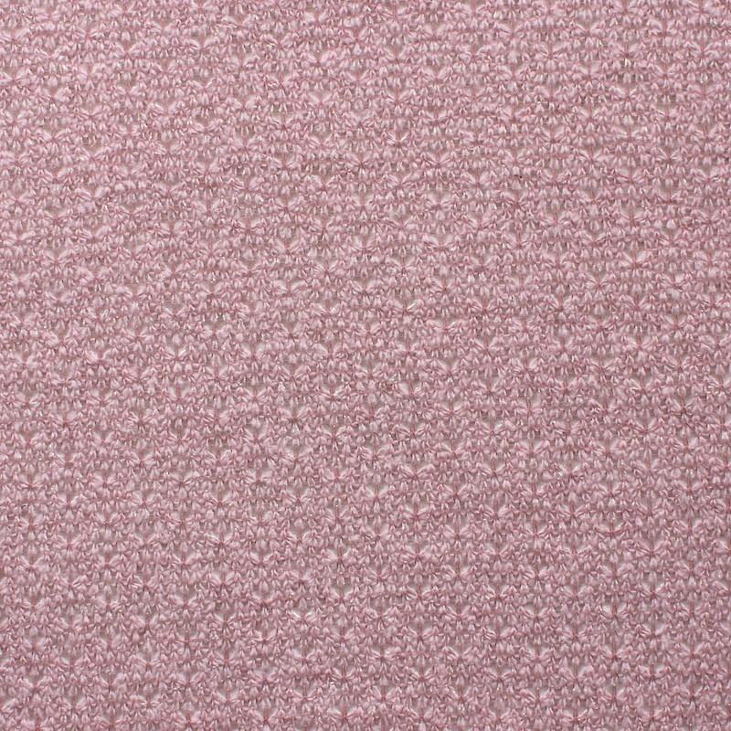 Tissu en maille légère rose