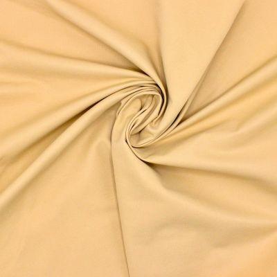 Tissu coton et polyester - paille