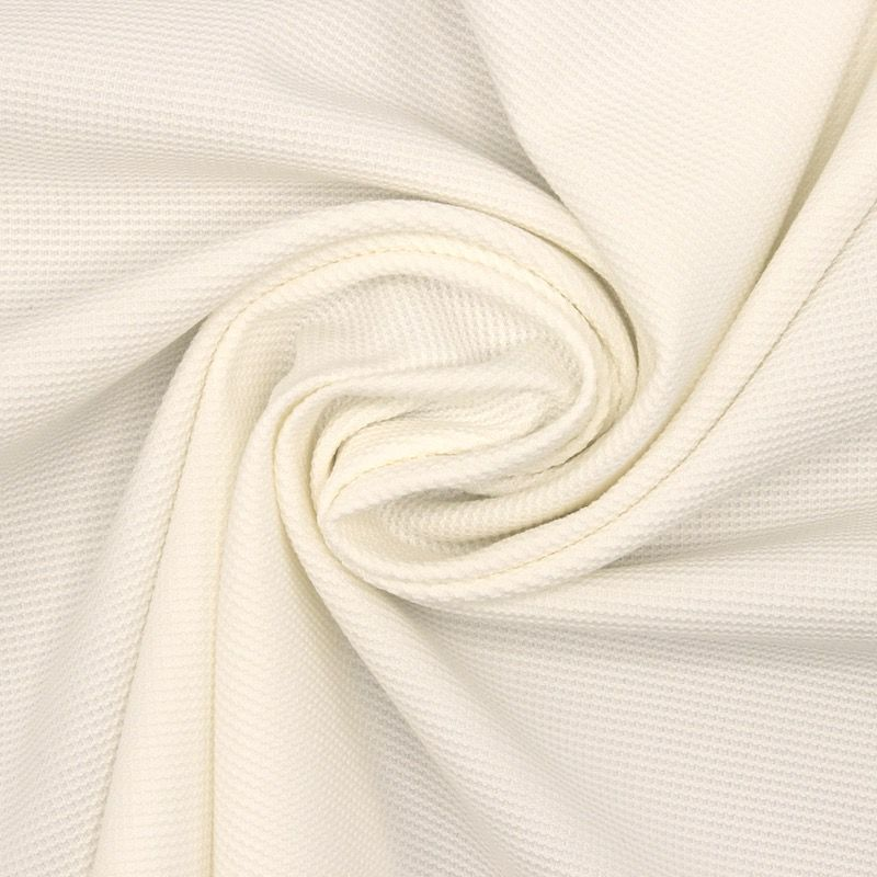 Extensible cotton fabric - white