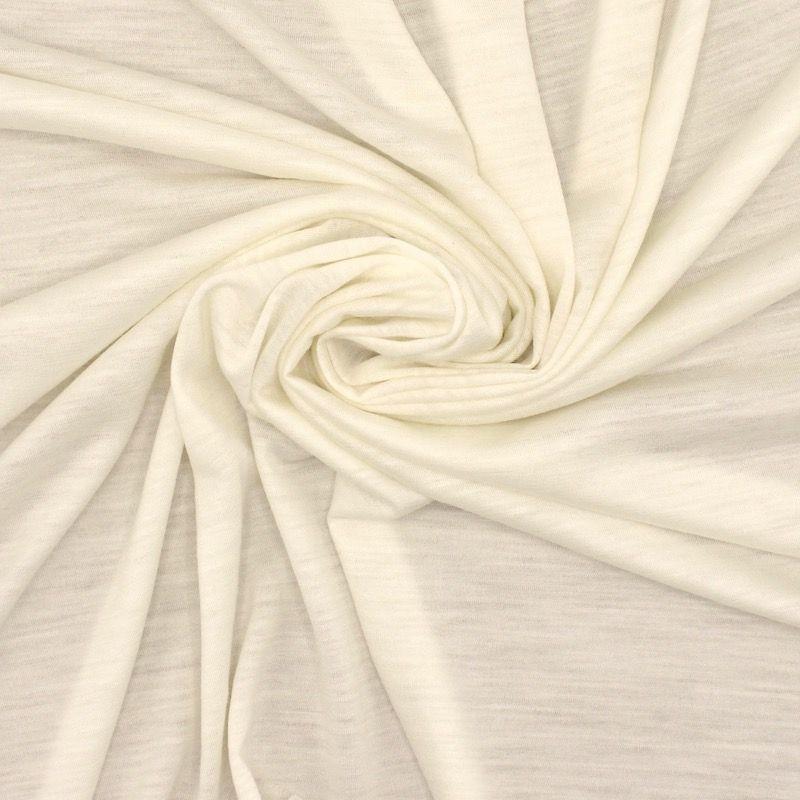Tissu jersey - blanc