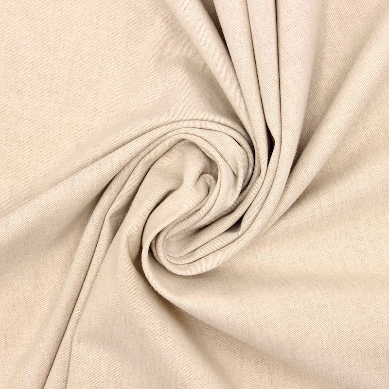 Emerised twill fabric - beige