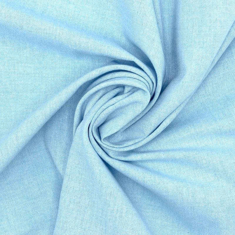 Chambray cotton fabric - blue