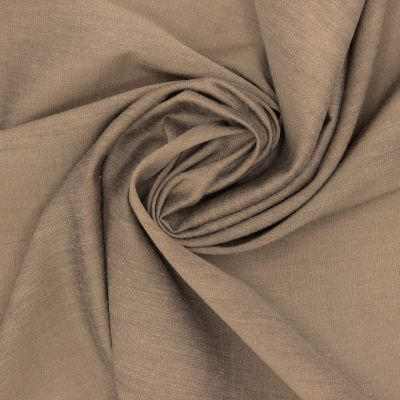Fabric in viscose and cotton - brown