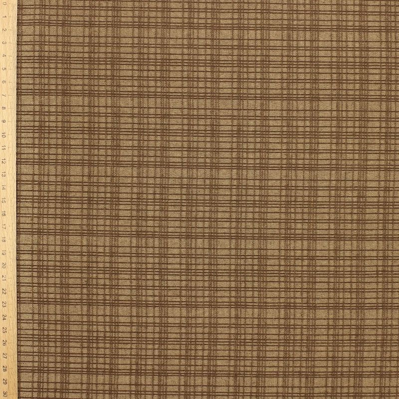 Checkered extensible fabric - brown