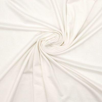 Tissu jersey viscose - blanc