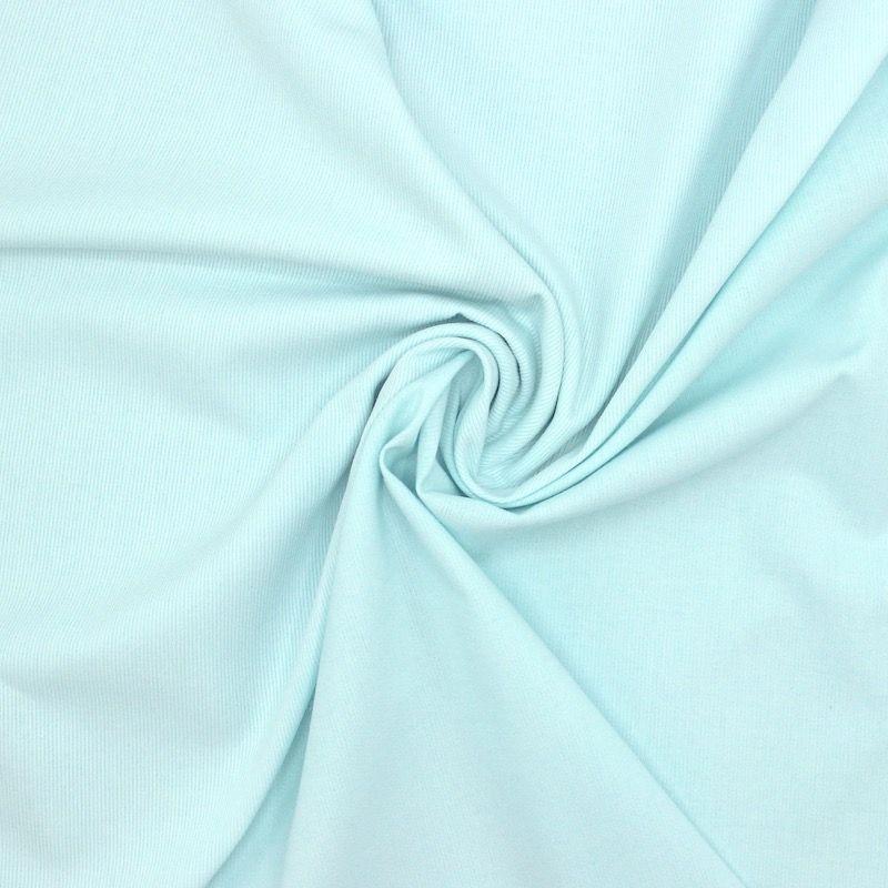 Ribbed brushed cotton - turquoise