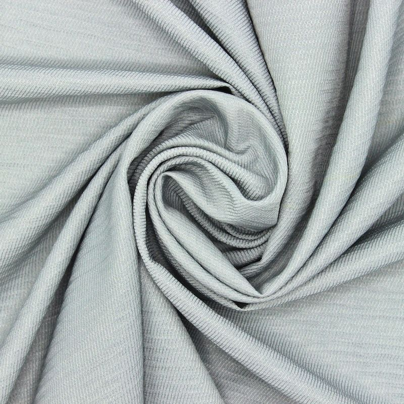 Fabric in viscose and polyester - grey