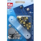 Boîte de 24 rivets universels inoxydables de 9mm