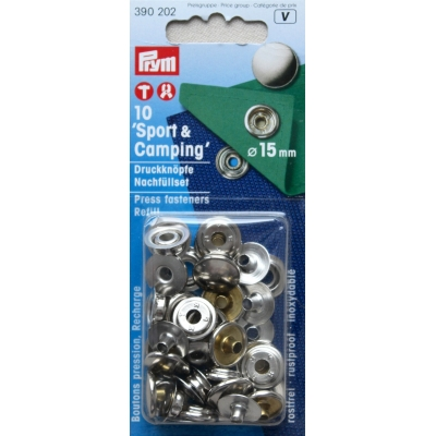 Recharge Boutons pression Sport & Camping 15mm