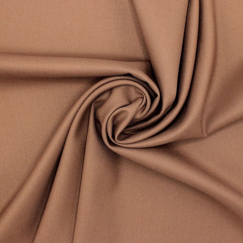 Extensible polyester twill fabric - brown
