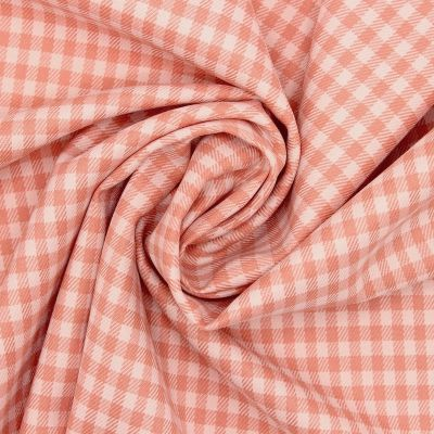 Checkered extensible fabric - salmon
