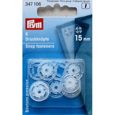Boutons pression 10mm en plastique