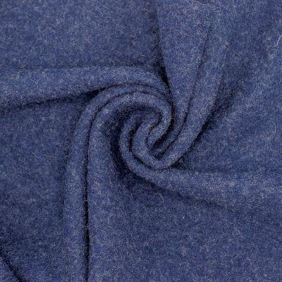 100% boiled wool - navy blue