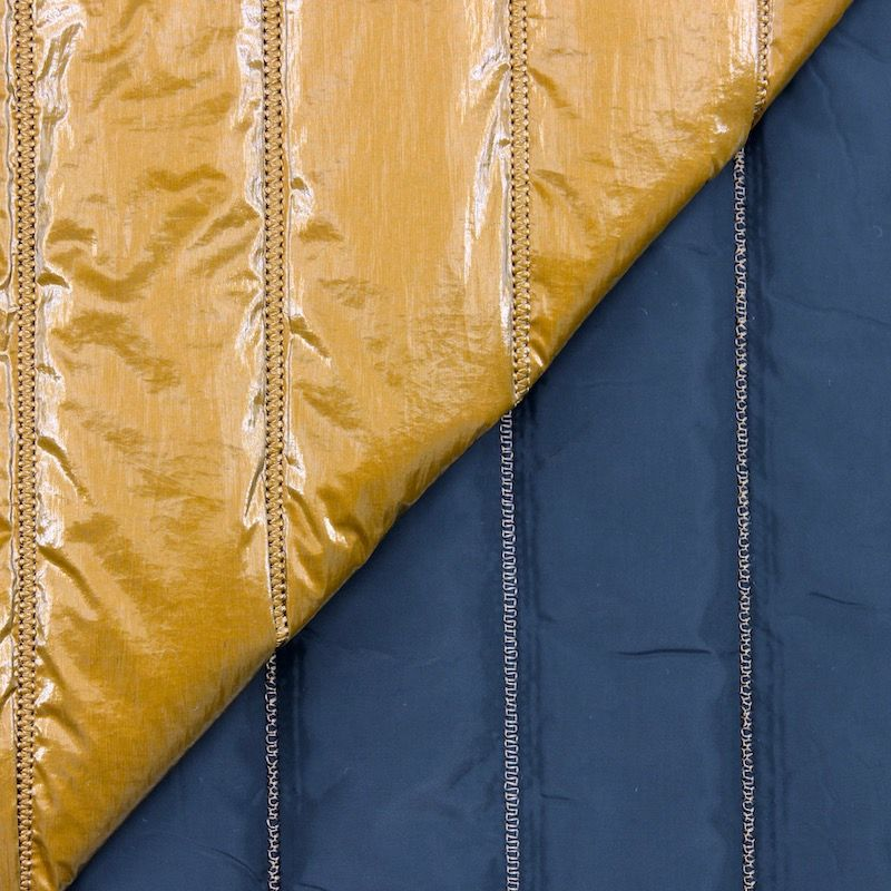 Double-sided quilted fabric - gold