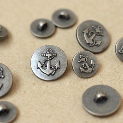 Boutons aspect métal gris argent