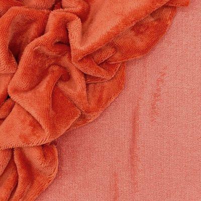 Tissu éponge bambou orange