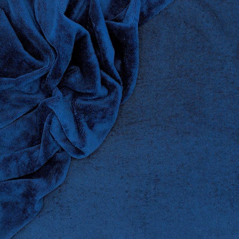 Tissu éponge bambou bleu saphir