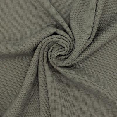 Tissu jersey tricot gaufré - kaki