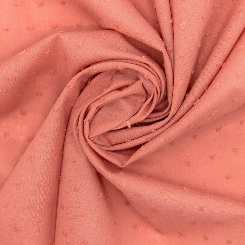 Embroidered cotton - marsala