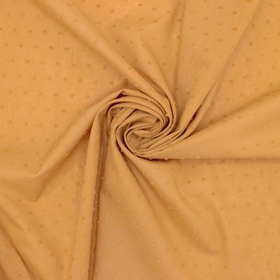 Embroidered cotton - camel