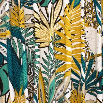 Upholstery fabric with foliage - multicolored