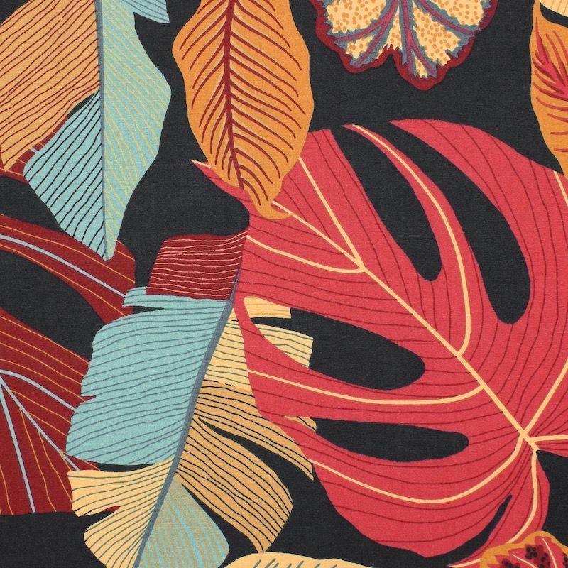 Cotton with foliage - multicolored